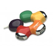 Hub Usb 2.0 4 Puertos Manhattan Multicolor