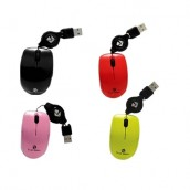 MINI MOUSE OPTICO RETRACTIL USB NEGRO1000DPI MOMR-011 MOMR-012 MOMR-013 MOMR-014 MOMR-015