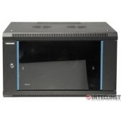 "Gabinete 19"" 6U Intellinet Para Montaje En Pared, Metal Negro"
