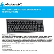 Teclado Acteck Slim Desktop, PS/2. Color Negro UETE-177