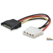 Cable De Corriente Manhattan Sata Hembra A Molex 4 Pines Macho
