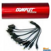 Bateria Portable Usb 5V Complet, Micropower 3000  Con Cable Universal Incluido Color Rojo.